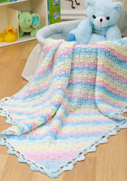 Diamond Blanket for Baby in Red Heart Sweet Baby - WR2172 - Downloadable PDF