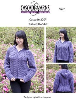 Cabled Hoodie in Cascade 220 - W227