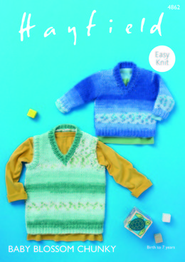 Sweater & Tank in Hayfield Baby Blossom Chunky - 4862 - Downloadable PDF