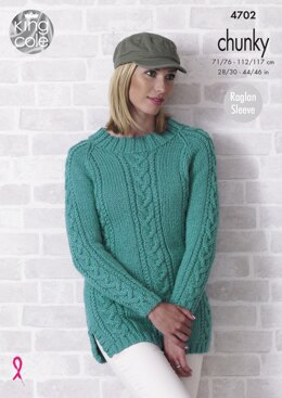 Sweaters in King Cole Value Chunky - 4702 - Downloadable PDF