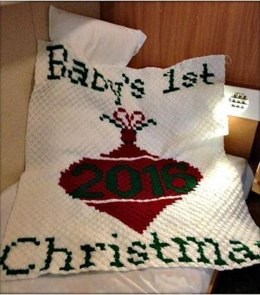 Baby First Christmas 2016 Blanket