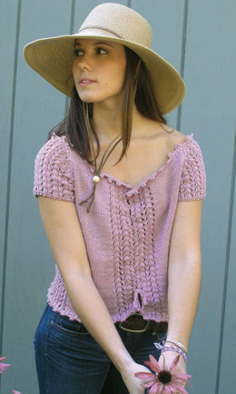 Ellie Mae Top in Knit One Crochet Too Dungarease - 1894 - Downloadable PDF