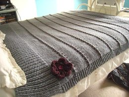 Textured Stripe Blanket and Cushion
