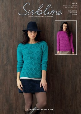 Womens Sweater in Sublime Superfine Alpaca DK - 6113- Downloadable PDF