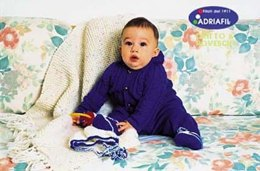 Tenderly Set, Play Rug & Bonnet and Booties in Adriafil Avantgarde and Happy - Downloadable PDF