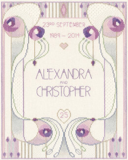 Derwentwater Designs Wedding or Anniversary Sampler Cross Stitch Kit