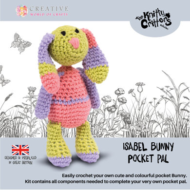 Creative World of Crafts Knitty Critter Pocket Pal - Isabel Bunny