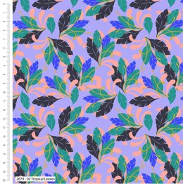 Craft Cotton Company Tropical Leopard - Leaves