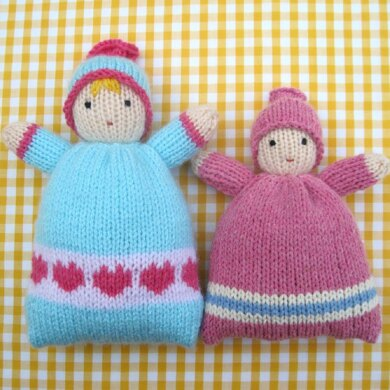 Little Sweethearts - knitted doll