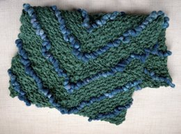Chevron Blanket in Knit Collage Pixie Dust and Sister Yarn