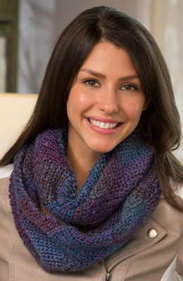 Entrelac Crochet Cowl in Red Heart Boutique Treasure - LW4877 - Downloadable PDF