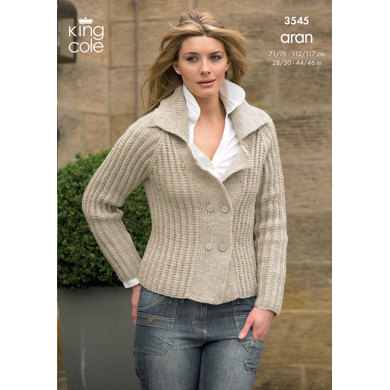 Jacket and Sweater in King Cole Fashion Aran - 3545