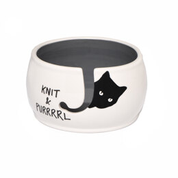 Lenny Mud Knit and Purrrl Yarn Bowl