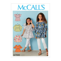 McCall's Children's and Girls' Tops M7888 - Sewing Pattern
