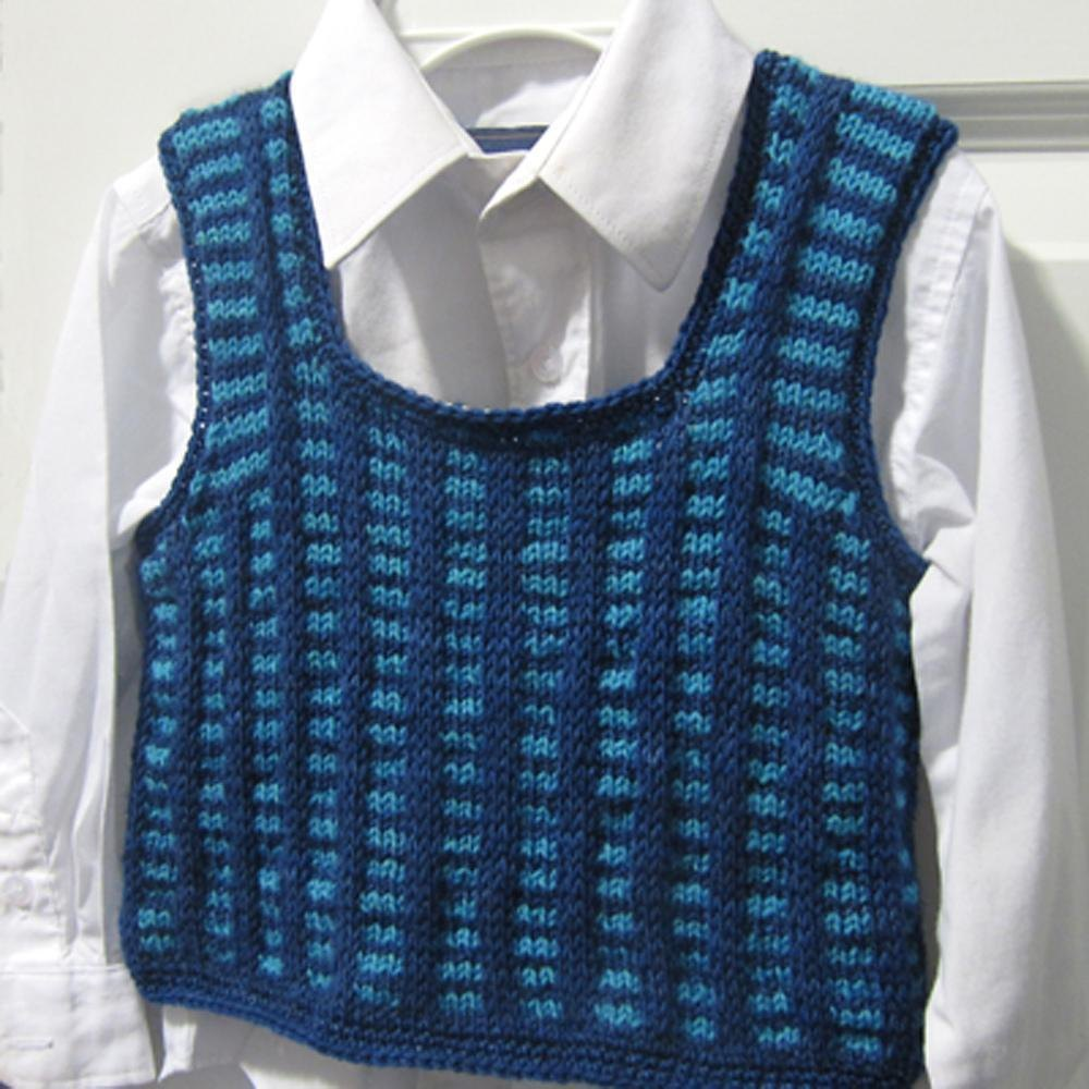 Pullover Vest Knitting Pattern : Alex adorable pullover vest knitting pattern by lindsey