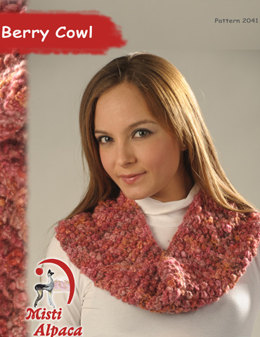 Berry Cowl in Misti Alpaca Baby Me Boo Hand Paint - 2041