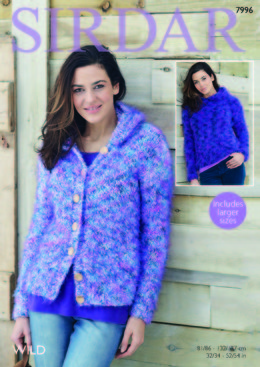 Woman's Hooded Sweater and Jacket in Sirdar Wild - 7996