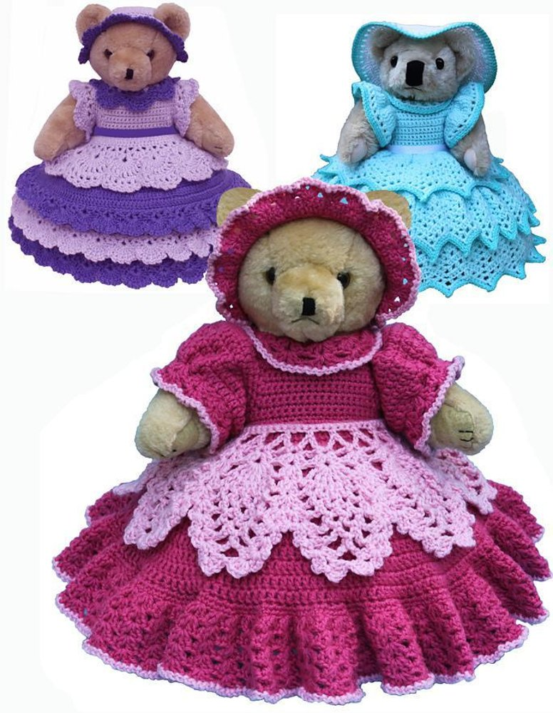 Knitting Patterns For Dolls Bedding : Bed Doll Bears Crochet pattern by Shady Lane Crochet Designs Knitting Patte...
