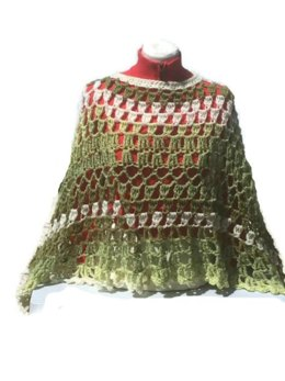 Avocado Poncho Shawl