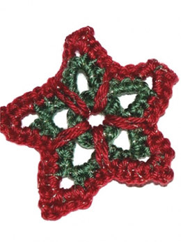 Christmas Star Ornament in Caron Simply Soft - Downloadable PDF