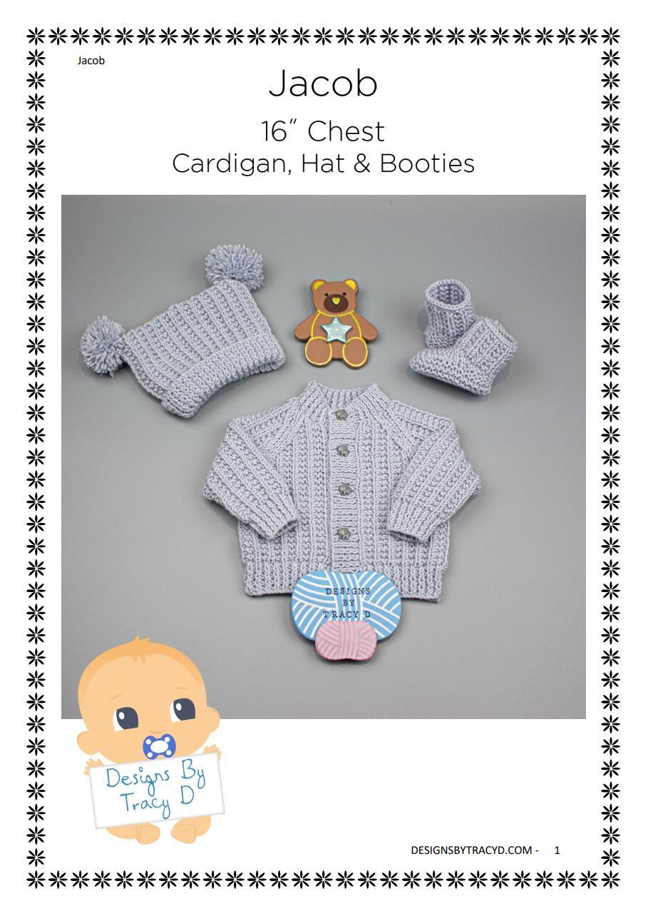Baby Stripe Sweater Bootees /& Heart Blanket 0-6 Years 4 Ply Knitting Pattern