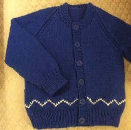 Zig Zag Cardigan in 2 sizes