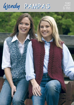 Gilets in Wendy Pampas Mega Chunky - 5182