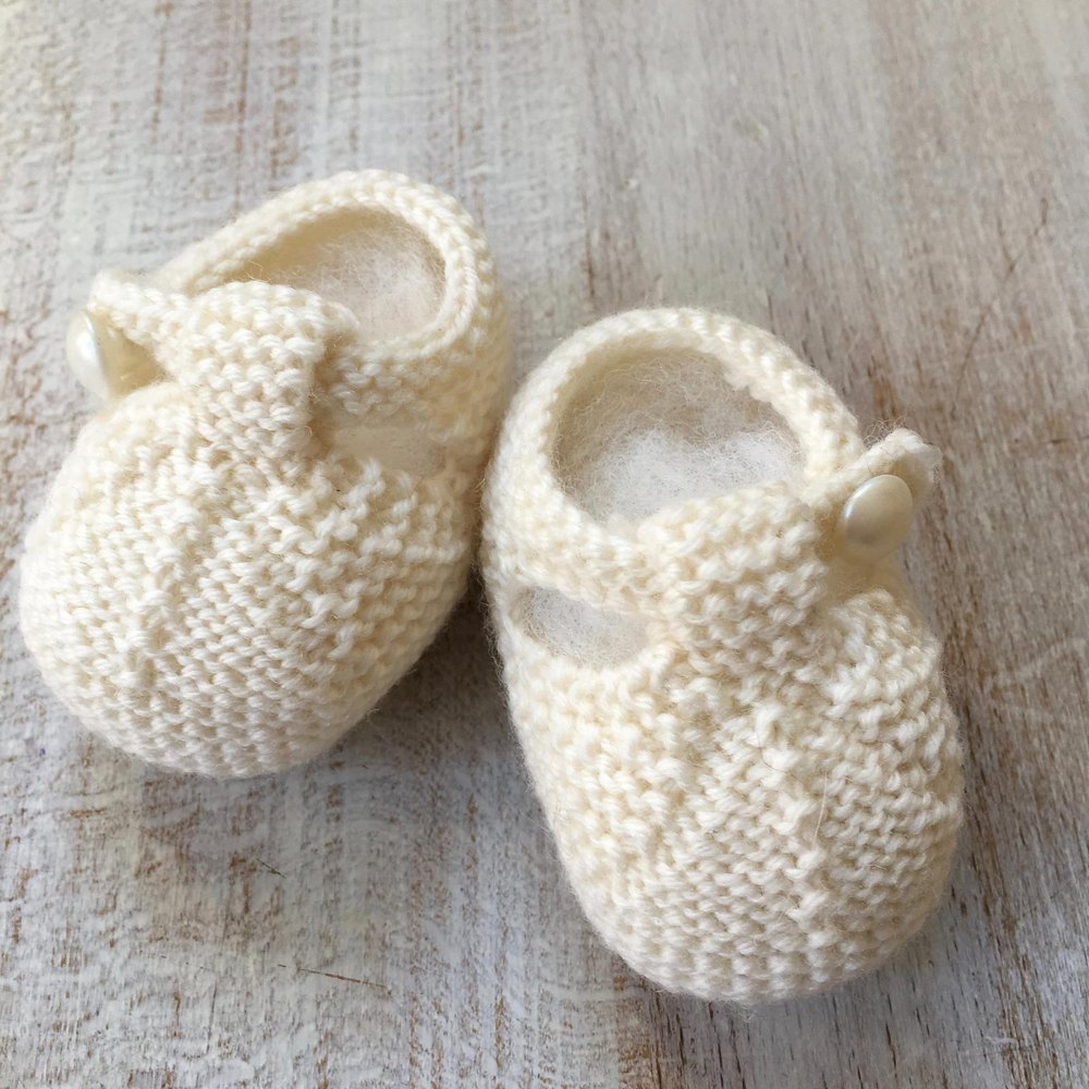 Knitting Baby Booties Patterns : Baby booties knitting pattern by florence merlin