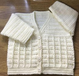 Rib Pattern Crochet Cardigan Pattern for Baby/Child.(1015)
