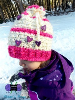 Floating Hearts Convertible Beanie