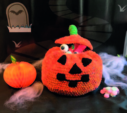 Crochet Pumpkin and Head Toppers in Robin Firecracker Mega Chunky - Downloadable PDF