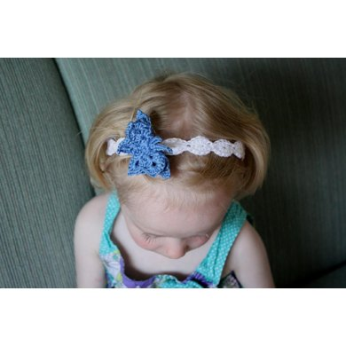 Shell Headband with Butterfly Pattern