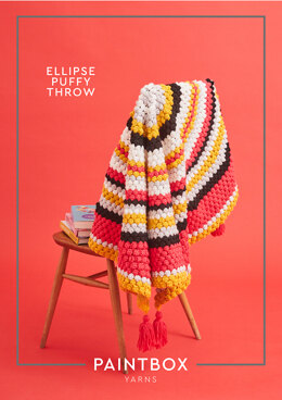 """Elipse Puffy Throw"" - Throw Crochet Pattern For Home in Paintbox Yarns Simply Chunky"