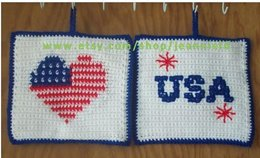 Patriotic Heart Pot Holder