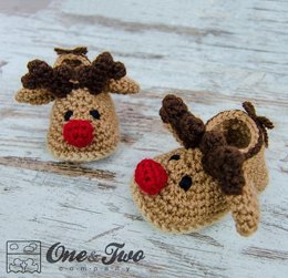 Reindeer Booties - Baby sizes