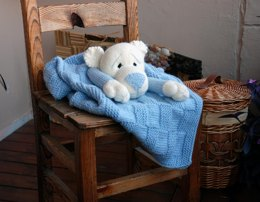 Bear Toy Baby Blanket