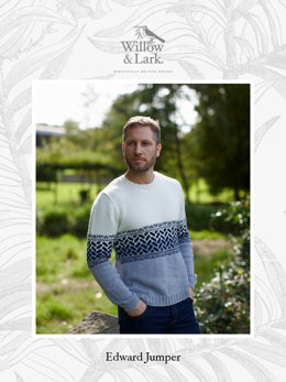 """Edward Jumper"" - Sweater Knitting Pattern For Men in Willow & Lark Ramble-4"
