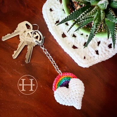 Heart and Bow Keychain