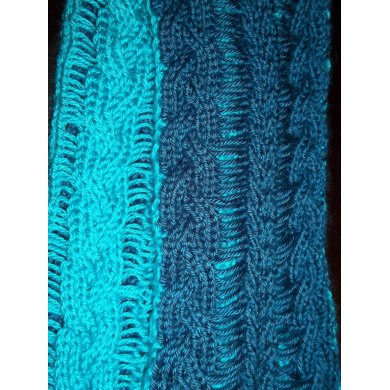 Dk Hanging Cables Scarf Knitting Pattern By Missmnbk