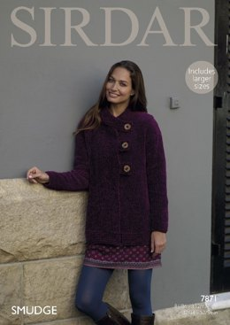 Jacket in Sirdar Smudge - 7871- Downloadable PDF