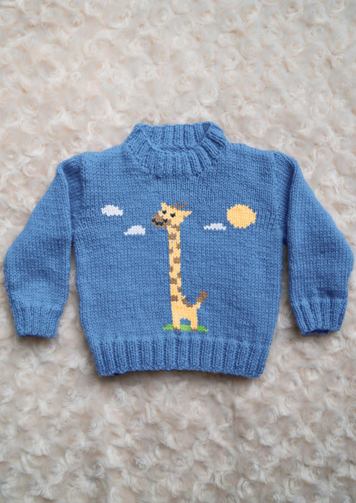 Intarsia Giraffe Chart Amp Childrens Sweater Knitting