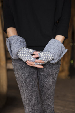 Fingerless French Mousle Glove Muffs in Imperial Yarn Tracie Too - PC11 - Downloadable PDF