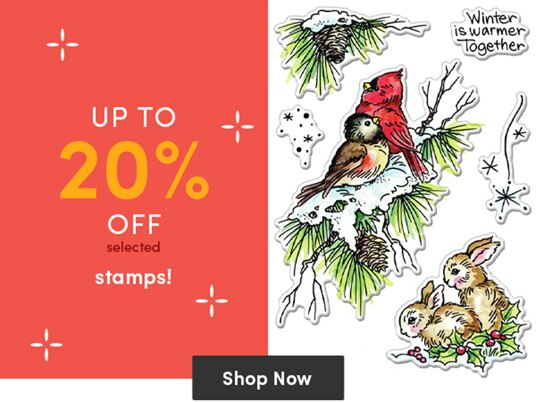 Up to 20 percent off stamps!