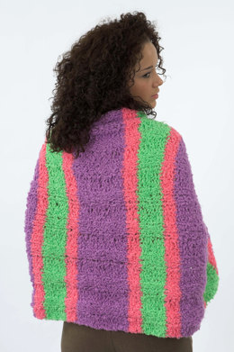 Striped Prayer Shawl in Plymouth Heaven - F146