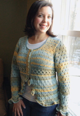 Ruffled O's Cardie in Knit One Crochet Too Ty-Dy - 1600