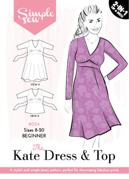 Simple Sew Patterns The Kate Dress & Top #024 - Sewing Pattern