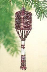Mill Hill Plum Tassel Cross Stitch Kit - 10cm