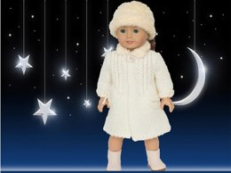Winter Wonderland Coat and Hat for AG and similar 18 inch dolls