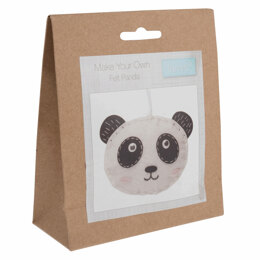 Trimits Felt Decoration Kit: Panda - 11 x 8cm.