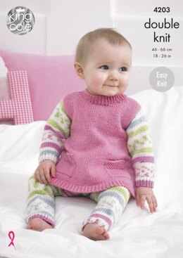 Tunic, Cardigan and Leggings in King Cole Cherish DK & Cherished DK - 4203 - Downloadable PDF